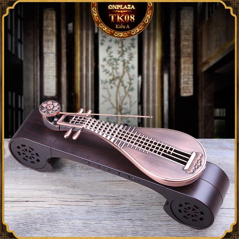 Bộ khay đốt nhang đa năng hộp nhạc kèm đàn tì bà tân cổ điển TK08