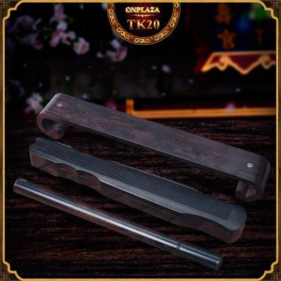 Bộ khay đốt nhang gỗ mun gồm 1 bàn 1 khay đốt  1 ống đựng nhang TK20