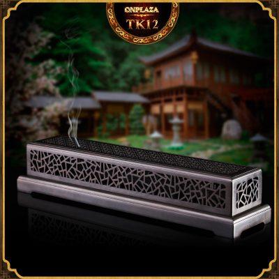 Hộp đốt nhang gỗ mun điêu khắc họa tiết cổ điển trang nhã TK12