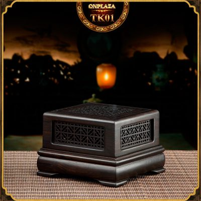 Hộp đốt nhang gỗ mun điêu khắc sang trọng TK01