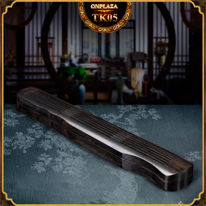 Hộp đốt nhang gỗ mun kiểu dáng cổ cầm sang trọng TK05