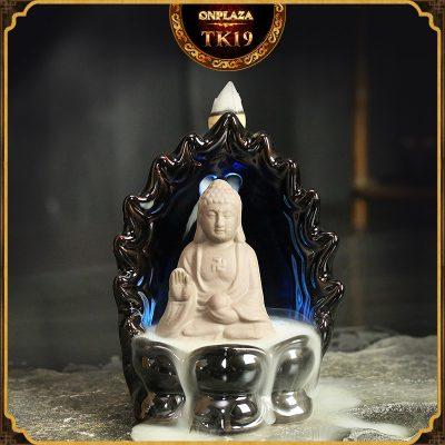 Khay đốt trầm hương nụ tỏa ngược kiểu dáng tiểu hòa thượng tọa thiền TK19