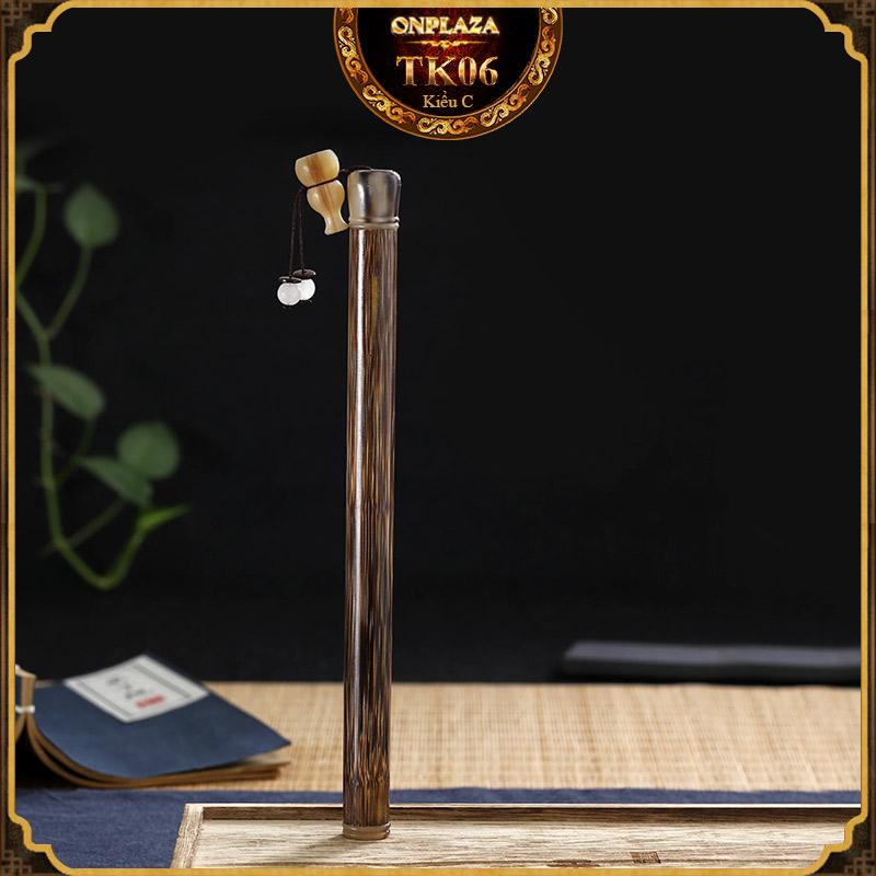 Ống đựng nhang gỗ tự nhiên dạng bút cổ điển TK06 2