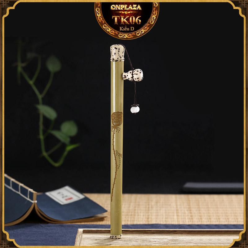Ống đựng nhang gỗ tự nhiên dạng bút cổ điển TK06 3