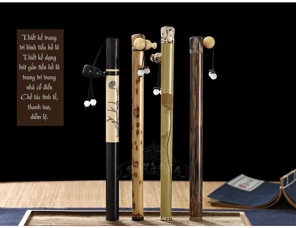 ảnh dài ống đựng nhang hình bút thư pháp