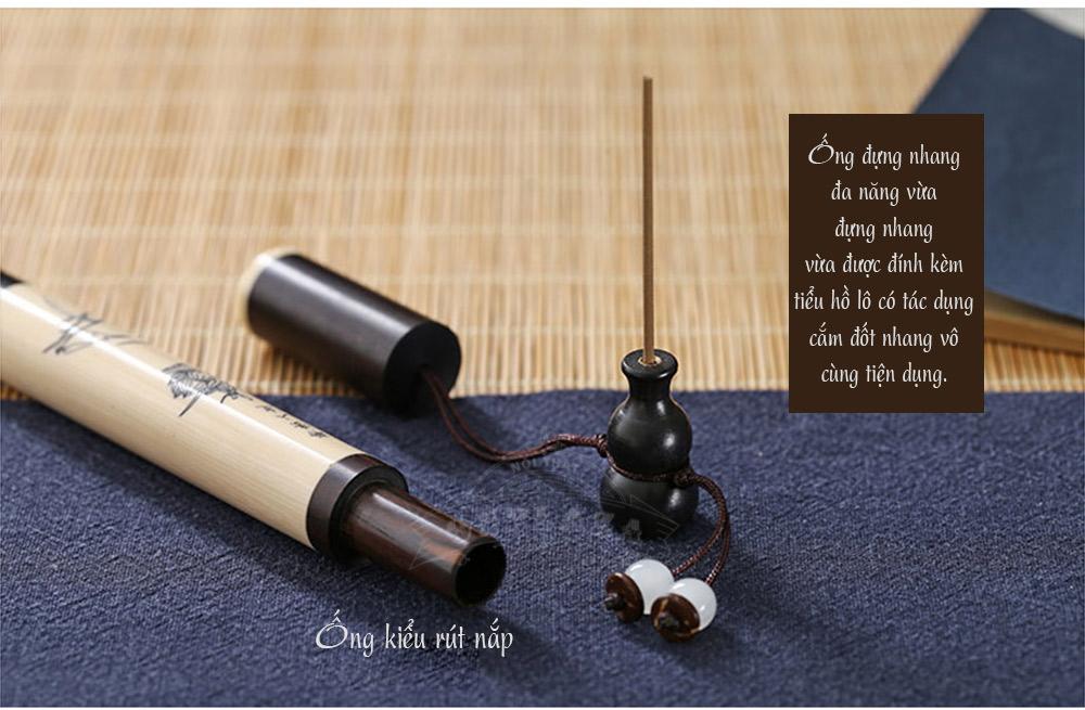 ảnh dài ống đựng nhang hình bút dùng đựng nhang cúng bái