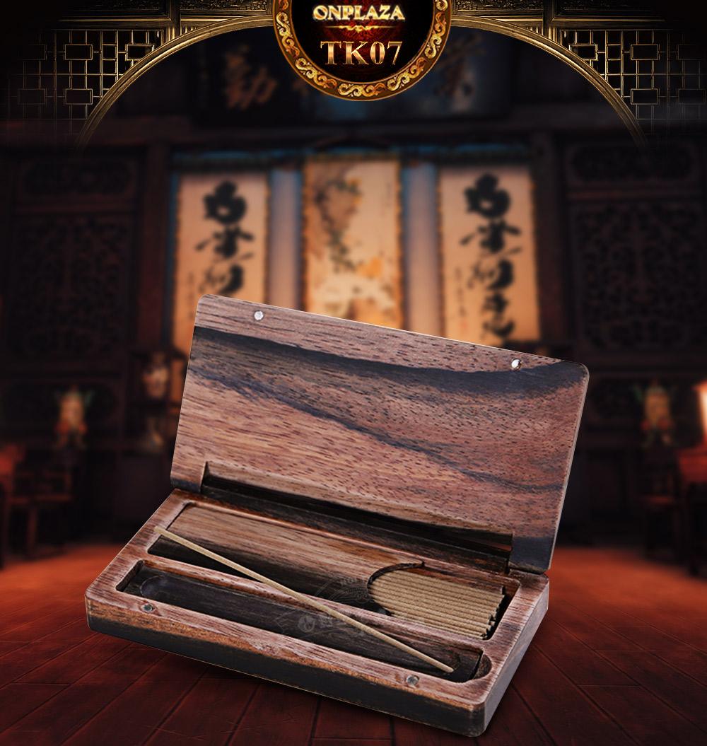 ảnh dài hộp đựng nhang dạng gỗ