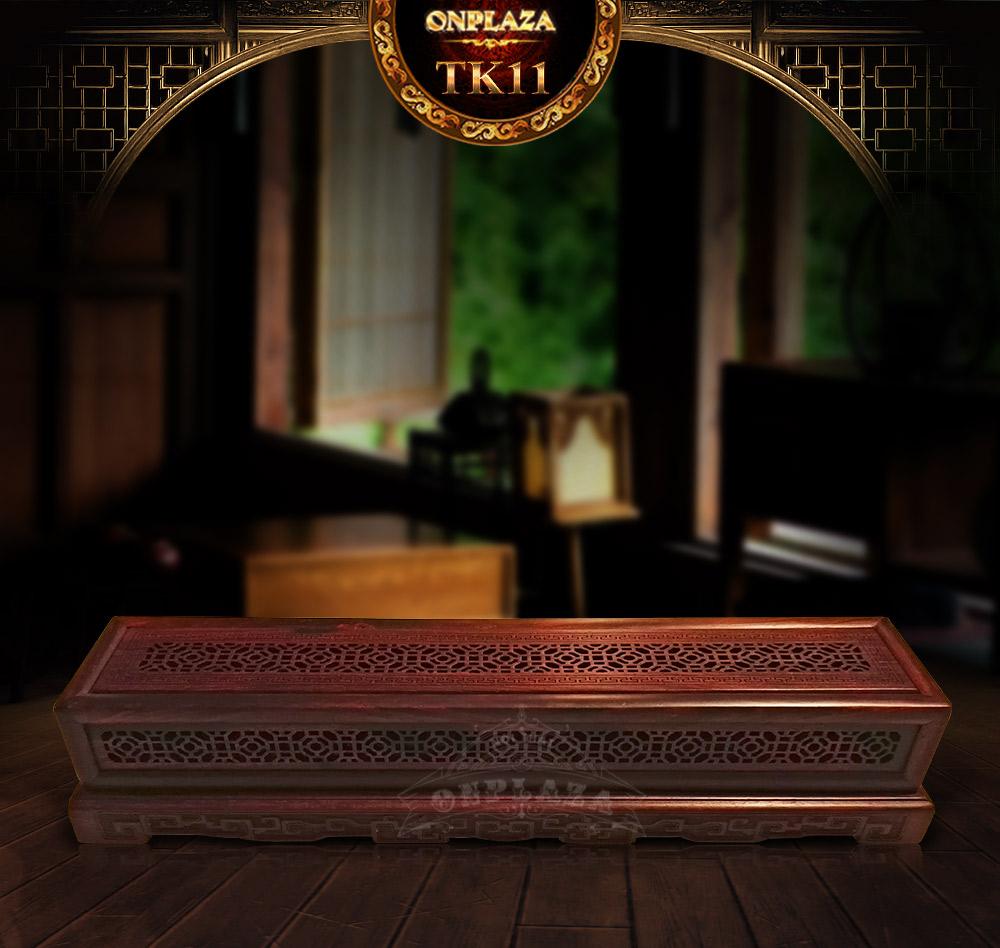 Ảnh dài Hộp đốt nhang trầm gỗ cẩm lai đỏ TK11
