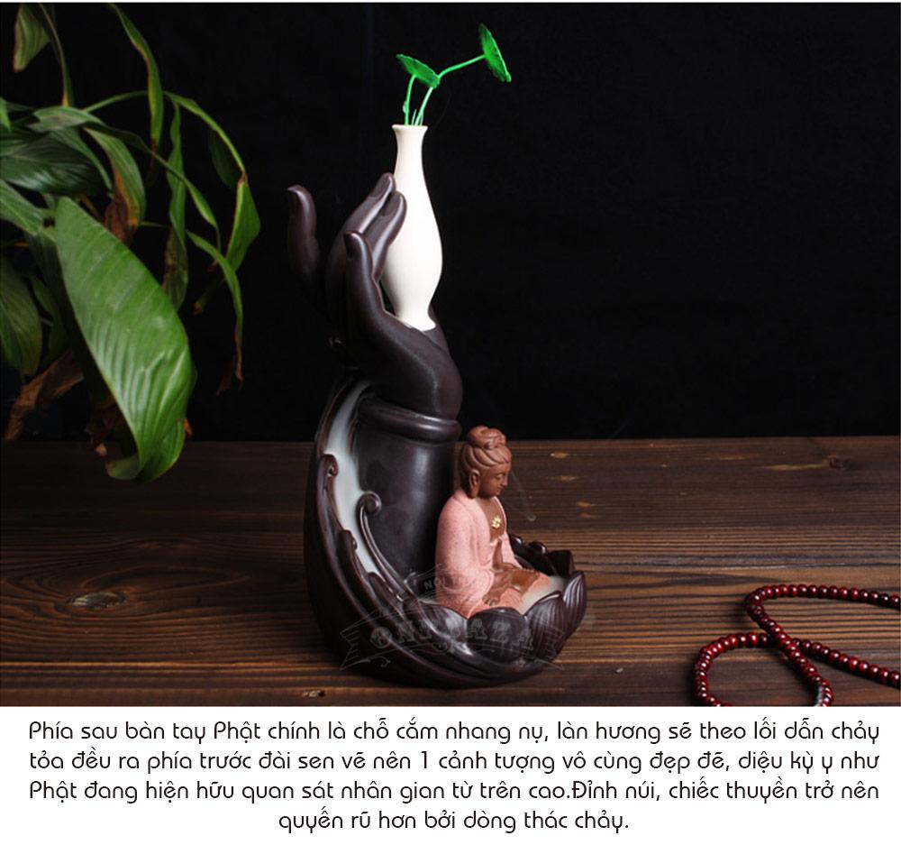 Ảnh Dài Khay đốt nụ trầm hương hình kích thước