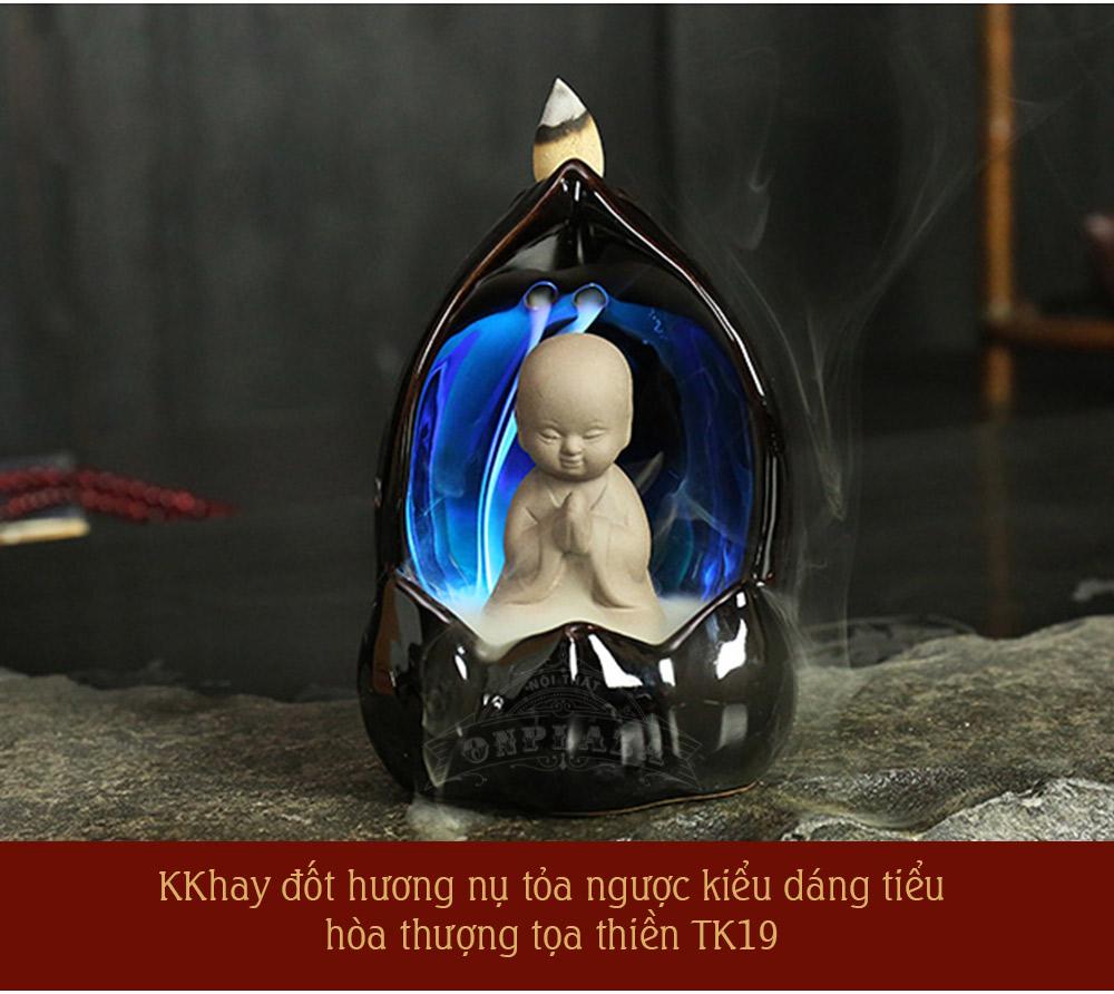 Ảnh dài Khay đốt trầm hương nụ tâm linh
