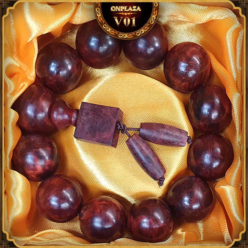 Vòng tay gỗ Nu Tử Đàn 20 ly V01