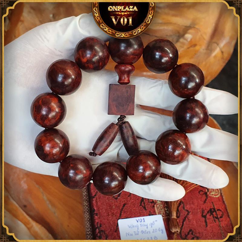 Vòng tay gỗ Nu Tử Đàn 20 ly V01 1