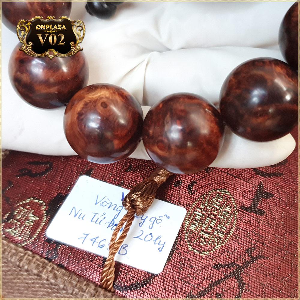 Vòng tay phong thủy V02 gỗ Nu Tử Đàn 20 ly 2