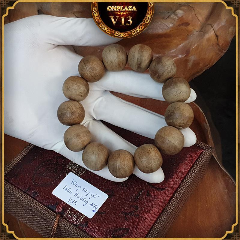 Vòng tay gỗ Trầm Hương cao cấp loại 18 ly V13 2