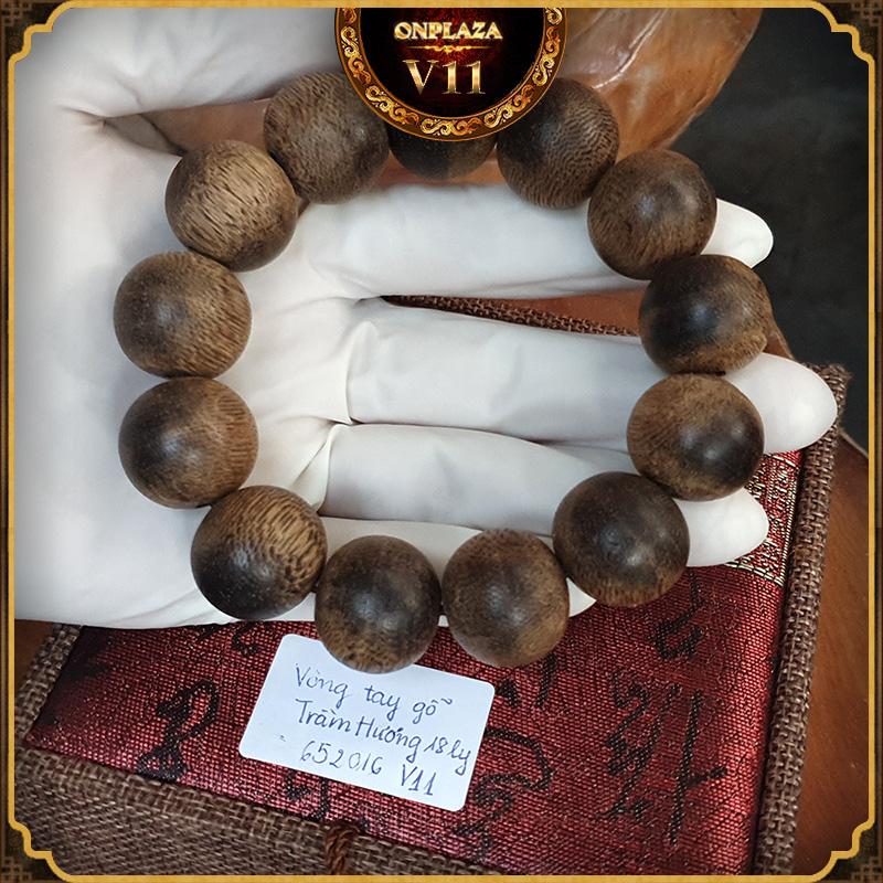 Vòng tay gỗ Trầm Hương 18 ly cao cấp V11 2