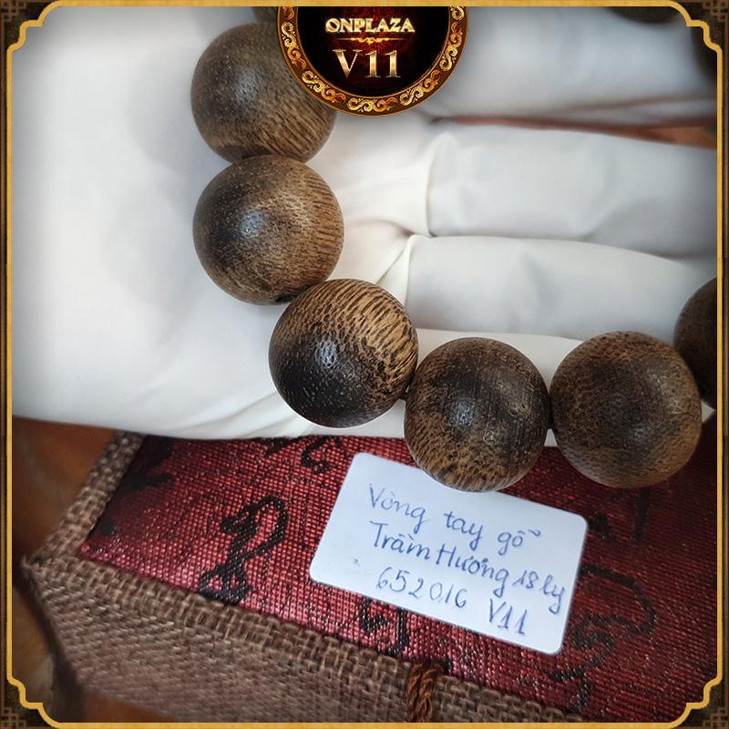 Vòng tay gỗ Trầm Hương 18 ly cao cấp V11 3